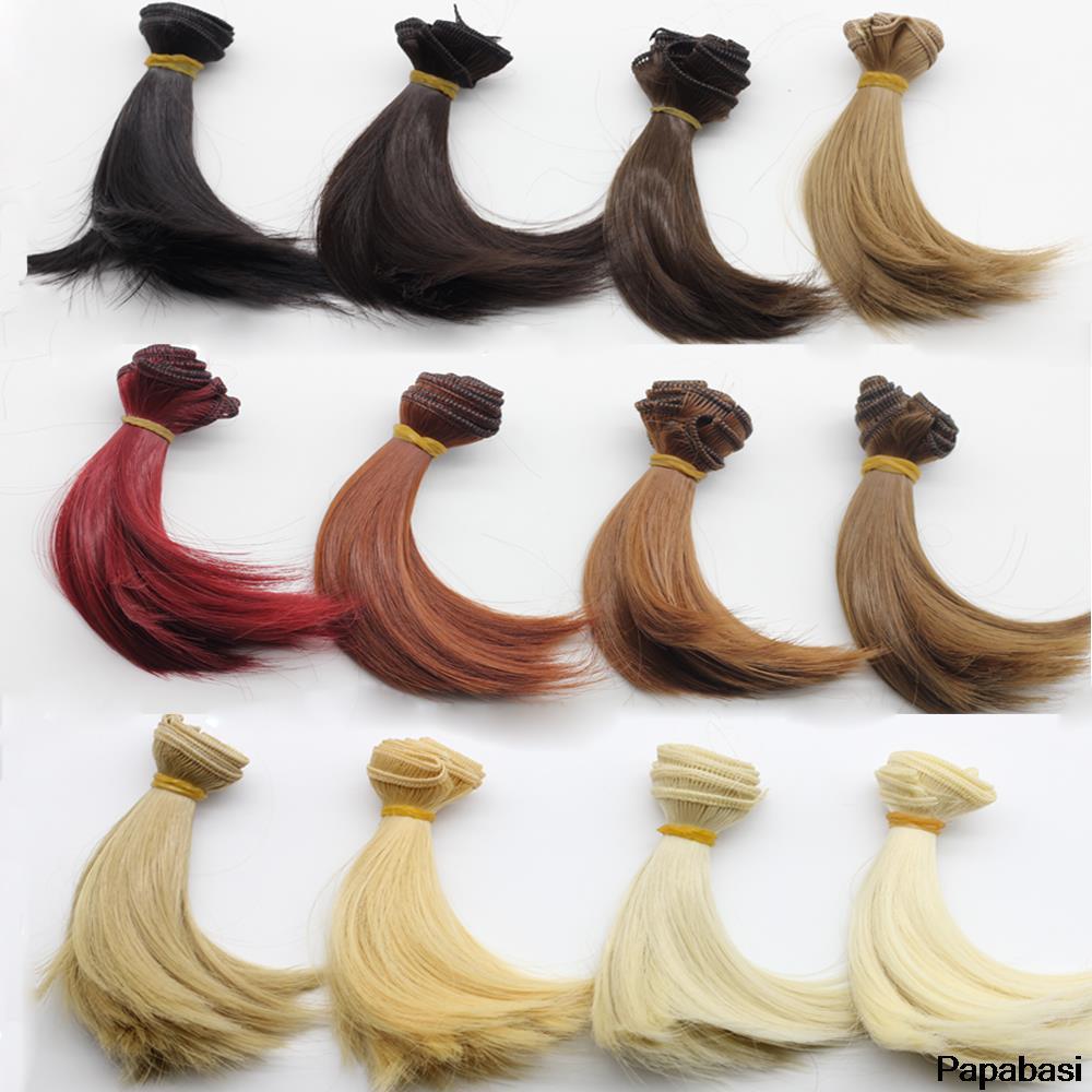 15cm * 100cm גדול מתולתל wigs שיער עבור בובה חום שחור צבע שיער טבעי צבע פאות עבור BJD בובה ep008