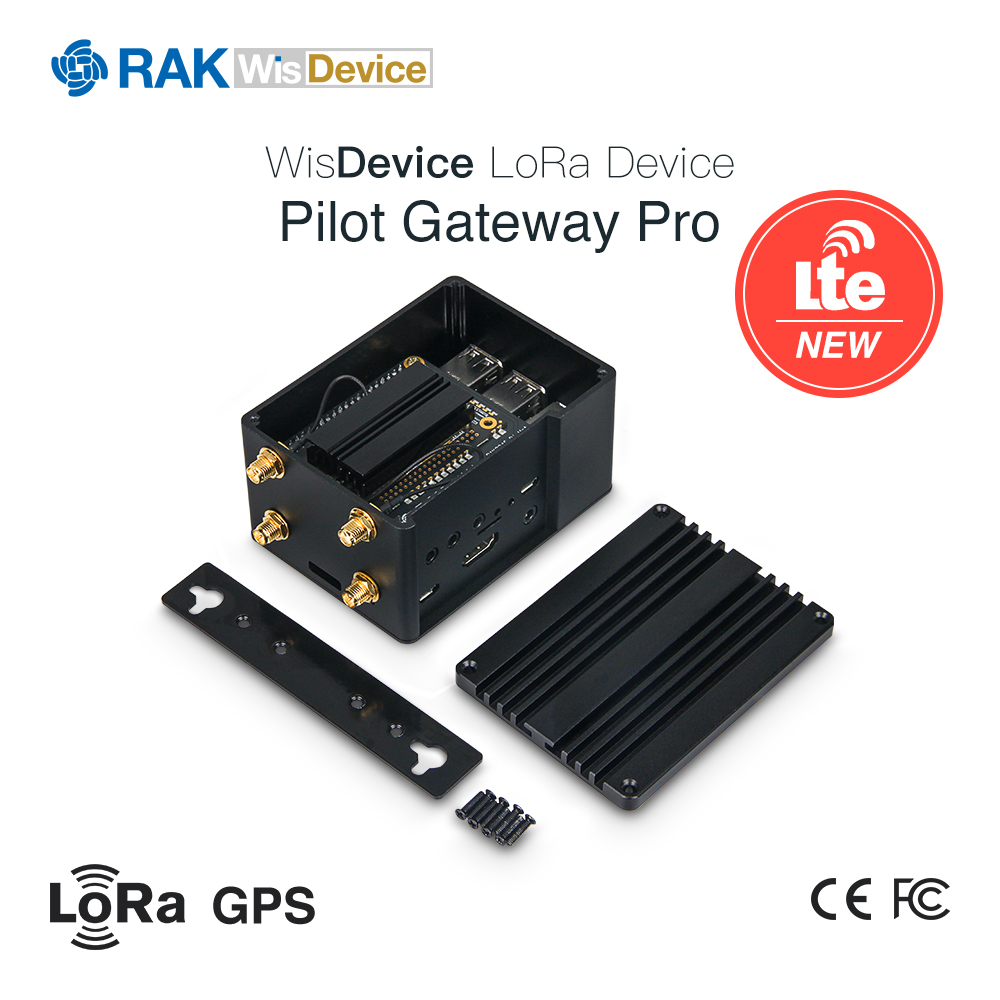 RAK7243 Pilot Gateway Pro 4G LoRa Gateway RAK831 Upgrade,for PoC Raspberry Pi 3B+, RAK2245 Pi HAT,RAK2013 Cellular Pi HAT