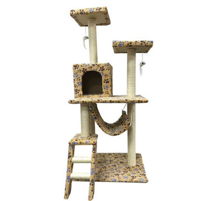 Sisal Pets Cat Climbing Frames Toys Interactive Gatos Cachorro Shelves Cat  Tree Interesting Wood Toys For