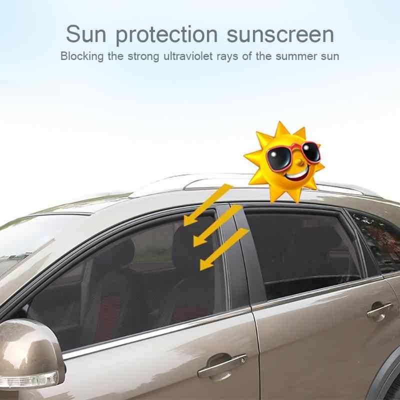 Vuool المغناطيسي نافذة السيارة ظلة غطاء الستار UV حماية السيارات الجانبية ويندوز الشمس قناع درع شبكة الشمس الظل غشاء واقي