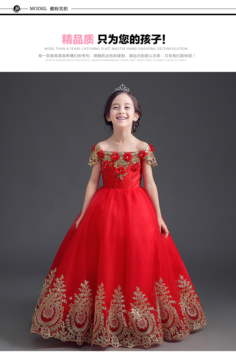 Aliexpress.com : Buy Lace party princess ball gown long dress for ...