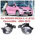 Para NISSAN MICRA C + C (K12) Convertible 2005-2015 Faros antiniebla parachoques Delantero luz Lámparas B6A508990A 261508990A 4419375