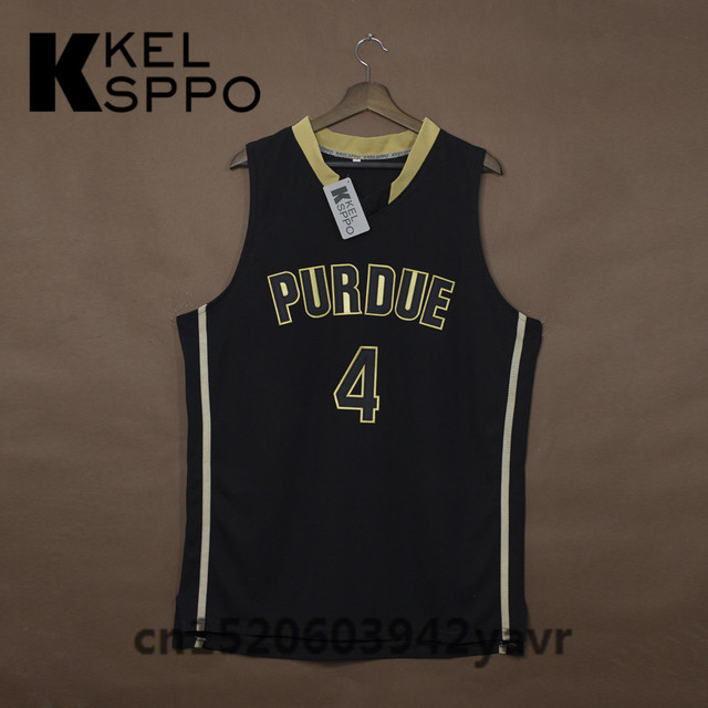 size 40 2ed60 5c26a US $42.99 |Custom Adult Throwback Basketball Jerseys #4 Purdue college  Boilermakers Embroidered Basketball Jersey Size XXS 6XL-in Basketball  Jerseys ...