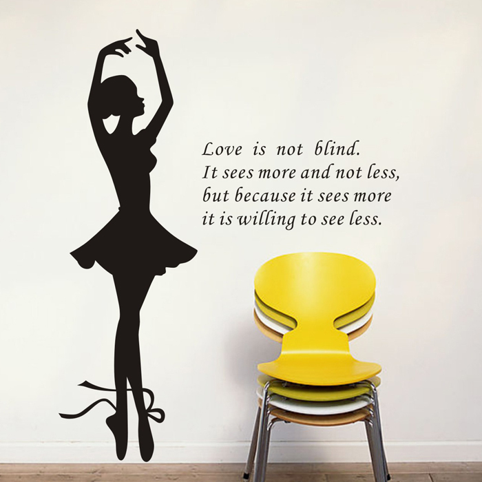 Wall Stickers Ballerina Bedroom Wall Paper Wall Of Setting Of The Sitting Room Character Ballet Free Shipping