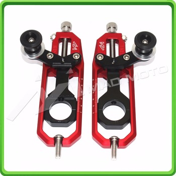 Motorcycle Chain Tensioner Adjuster with spool fit for Suzuki GSXR 600 GSX-R 750 2006 2007 2008 2009 2010 Red & Black