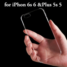 New Ultra Thin Clear Transparent Crystal Hard back Case cover for iphone 6 plus 5.5 cell phone cases iphone6 inch