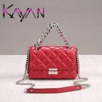 Luxury Style Women Bag Diamond Lattice Shoulder Bag Brand Designer Lamb Skin Chain Bag Small Lady Flap Fashion Crossbody Bag