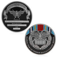 Zinc Alloy Global War On Terror Expeditionary Medal Commemorative Challenge Coin Collection