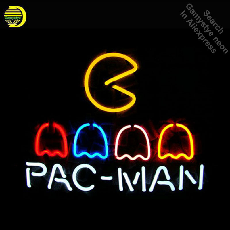 17*14 PAC MAN NEON SIGN Signboard REAL GLASS BEER BAR PUB Billiards display Restaurant Shop christmas Light Signs Dropshipping neon sign guinne irish lager ale harp signboard real glass beer bar pub shop club display christmas light signs 17 14 art lamp
