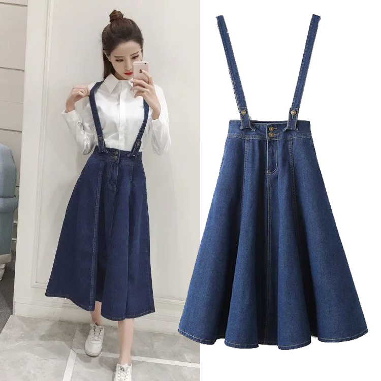 Popular Denim Skirt with Suspenders-Buy Cheap Denim Skirt with ...