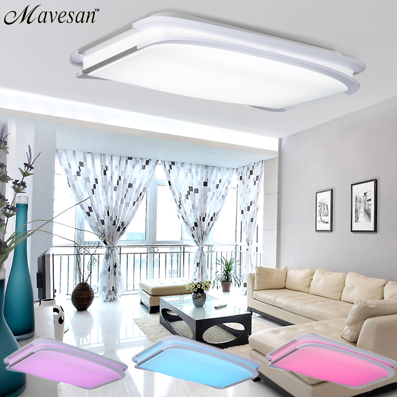 Ceiling Lamp Shades For Living Room: 2016 NEW Modern RGB Ceiling Light RGB+Cool White+Warm