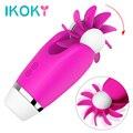 IKOKY Tongue Licking Vibrator Rotation Oral Clitoris Stimulator Sex Toys For Women Masturbator Sex Products Breast Massage