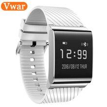 Vwar Bluetooth 4.0 Reloj Inteligente IP67 A Prueba de agua de Oxígeno Arterial Apoyo Pulsera Heart Rate Monitor Podómetro Inteligente para Android IOS