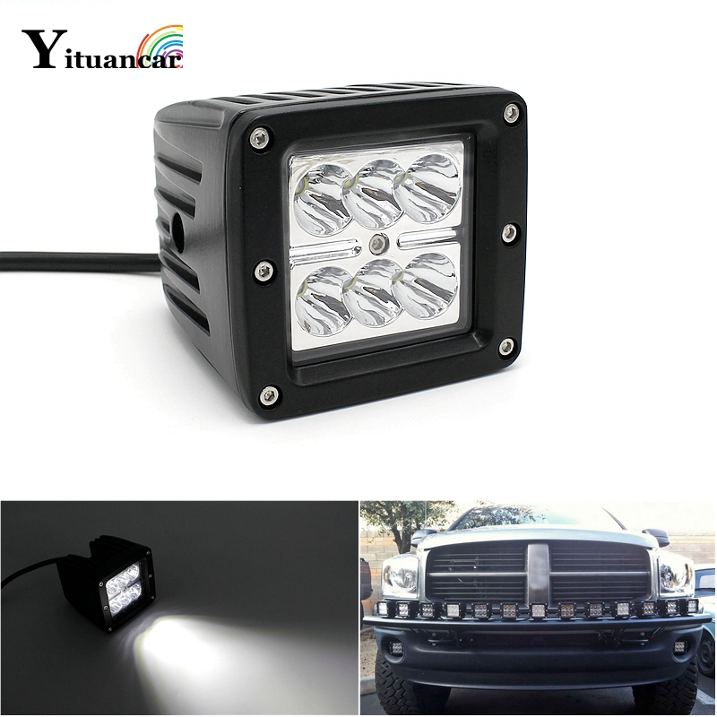 Yituancar 1 Buc / Set 18W 3 inch LED Light Bar de lucru IP67 Styling - Faruri auto