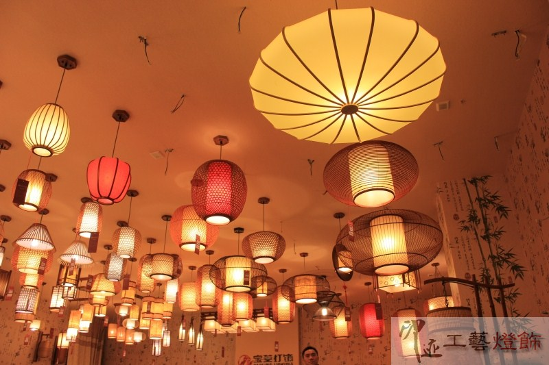 Chinese style restaurant droplight creative living room bedroom bamboo weaving southeast Asia balcony lamp Japanese style Lamps цена