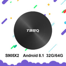 Nouveau T95Q Android 8.1 Smart TV Box 4GB 32 GB/64 GB Amlogic S905X2 TV BOX Quad Core 2.4G & 5GHz Wifi BT4.1 1000M H.265 4K PK X96MAX(China)