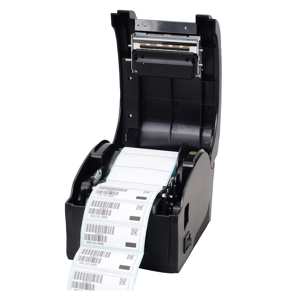 High quality USB port Thermal sticker printer Barcode printer Label Printer for Supermarket, milk tea shop, restaurant supermarket direct thermal printing label code printer