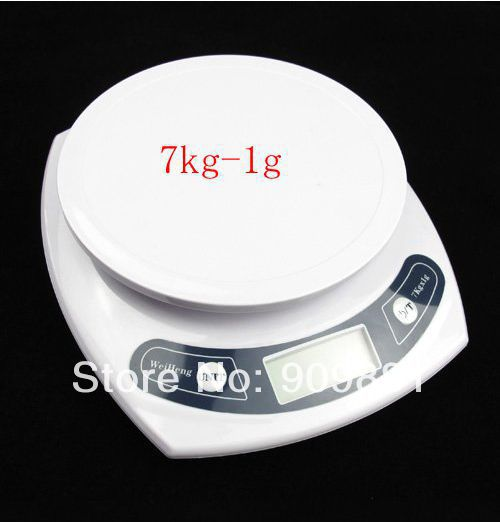 7kg 1g Portable Digital LCD Kitchen Scale Food Diet Postal Household Weight Balance Scales Max 7KG