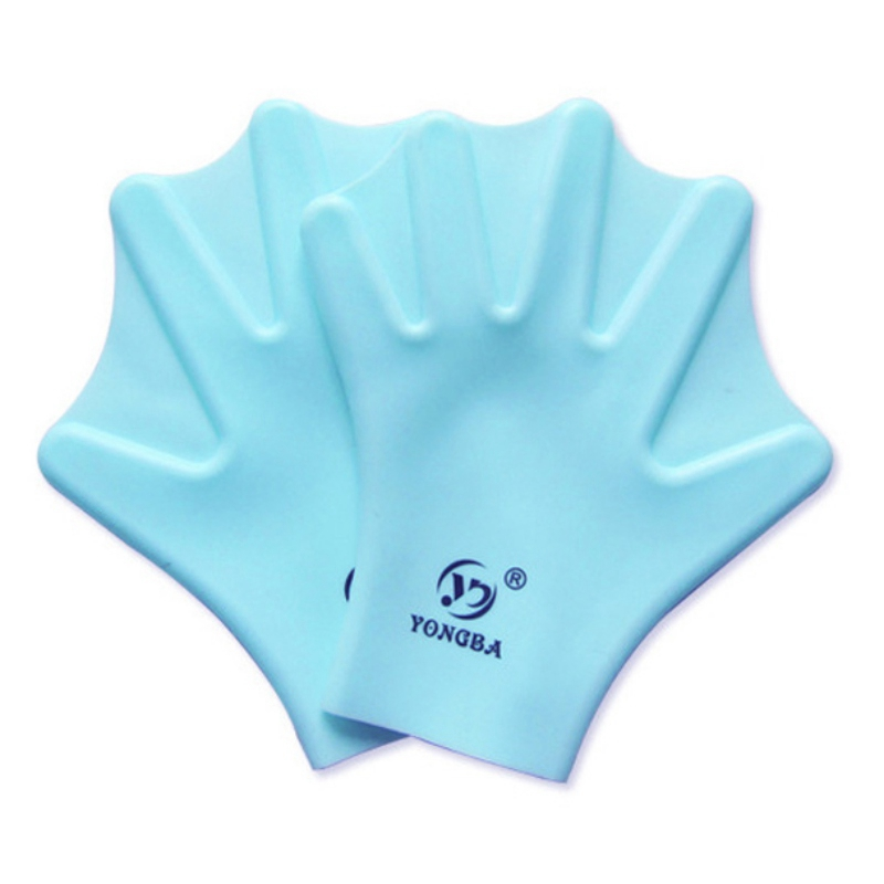 1 Pair Swimming Webbed Gloves Full Finger Adult Children Swimming Practice Training Paddle Glove Silicone Diving Surfing