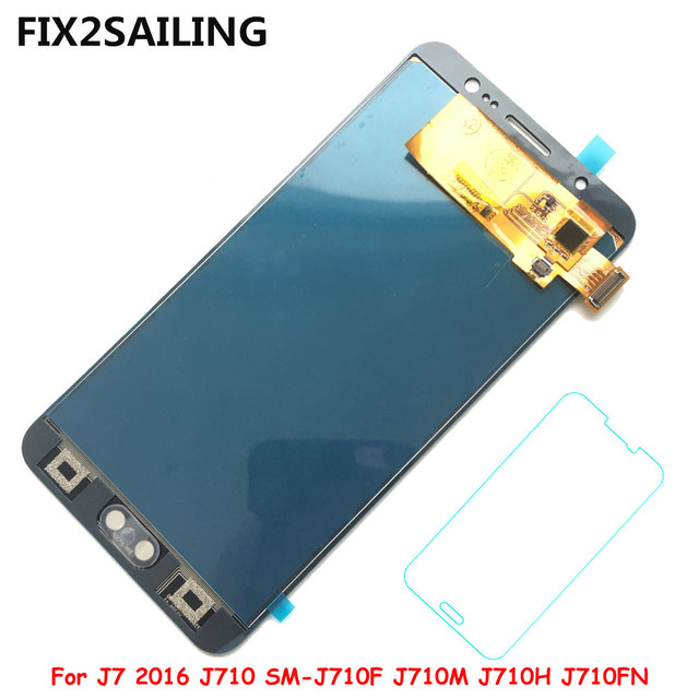 LCD Display 100% Tested Working Touch Screen Assembly For Samsung Galaxy J7 2016 J710 SM-J710F J710M J710H J710FN (Adjustment)