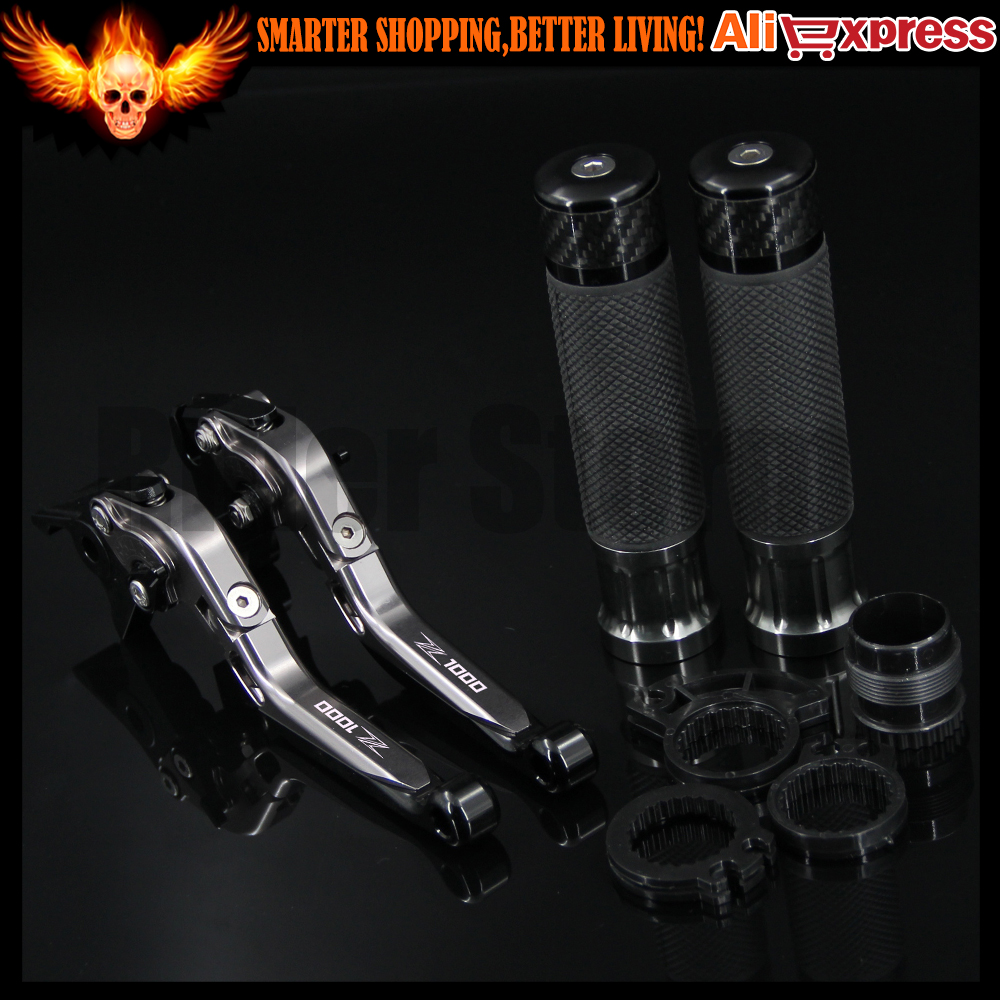 ФОТО For Kawasaki Z1000 2007 2008 2009 2010 2011 2012 2013 2014 2015 2016 CNC Motorcycle Brake Clutch Levers and Handlebar Hand Grips