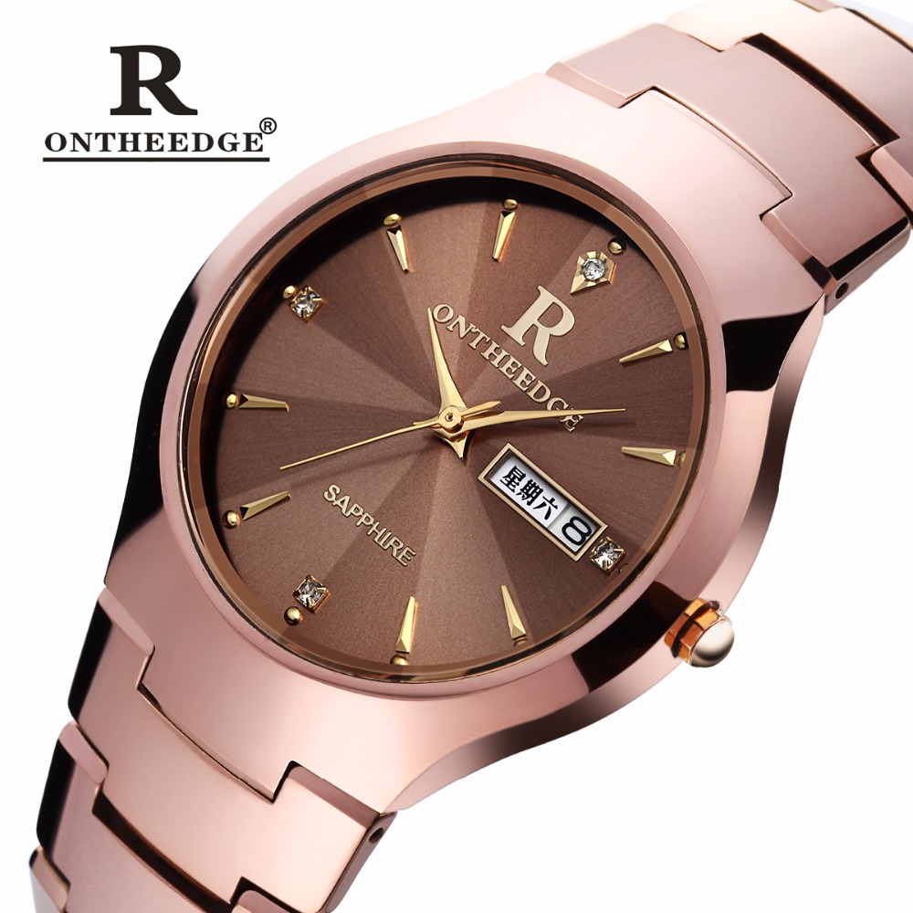 ONTHEEDGE Luxury Brand Waterproof Ladies Wristwatches Crystal Prism women quartz watches Tungsten Steel Watch Relogio Feminino