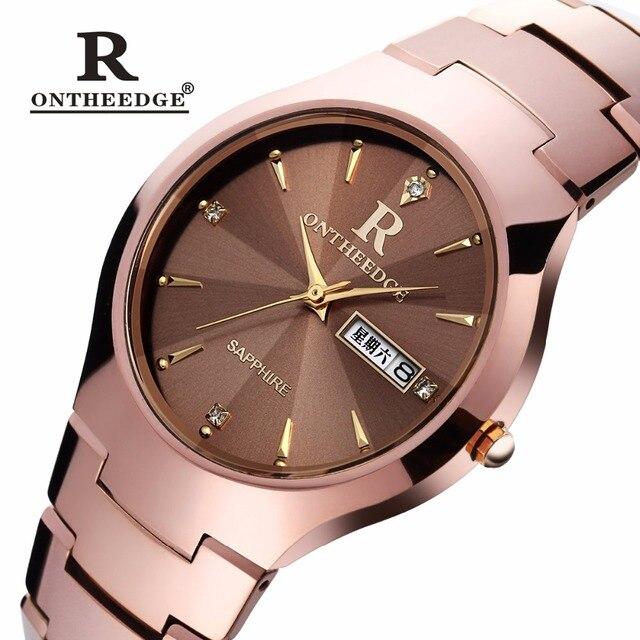 ONTHEEDGE Merek Mewah Tahan Air Wanita Jam Tangan Kristal Prisma wanita  quartz jam tangan Baja Tungsten b1f8cf8f89