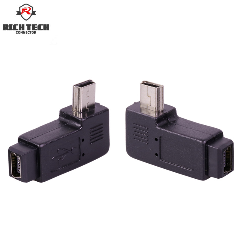 Mini USB connector right angle Left&Right mini USB female jack to male plug adapter/converter Mini USB connector right angle Left&Right mini USB female jack to male plug adapter/converter