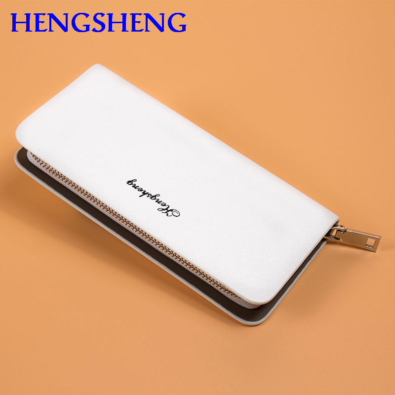 Free shipping HENGSHENG luxury font b leather b font men wallet for card holder men hand