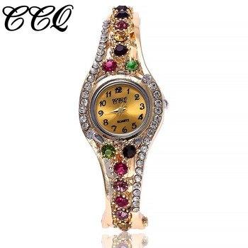 833d6ace5c57 CCQ marca mujeres pulsera reloj mujer reloj Brazalete reloj señoras reloj  cuarzo reloj Relogio Feminino caliente