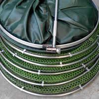Wysokiej jakości sprzęt wędkarski prawdziwy pierścień aluminiowy krawędź szybkoschnący siatka do krewetek ryby 2M klej klatka dla krewetek sieci rybackiej B303