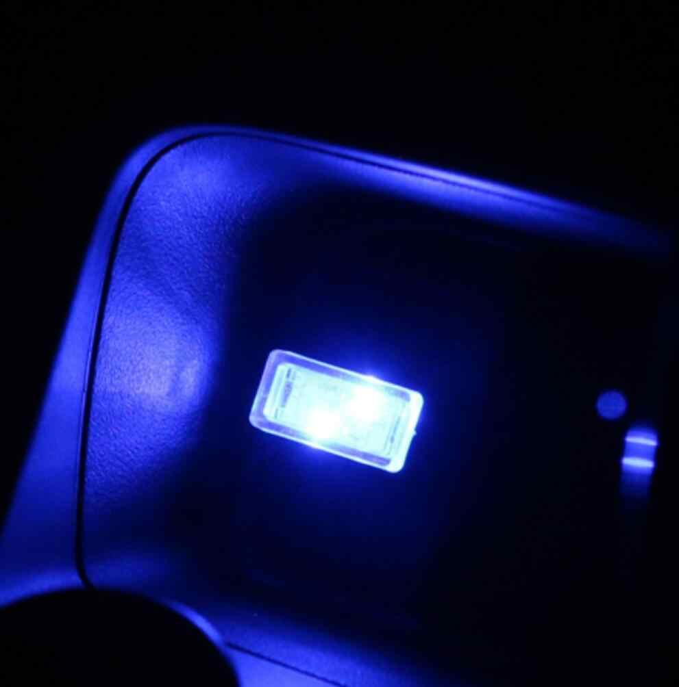 1 шт. USB мини светодиодный интерьер автомобиля атмосфера огни декоративные огни красный/синий/белый/зеленый/Кристалл синий/оранжевый