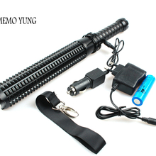 Мощный тактический фонарь, перезаряжаемый аккумулятор 18650, 3800 люменов, XM-T6, полицейский 1101, высокая мощность, для самообороны, с автомобильным зарядным устройством