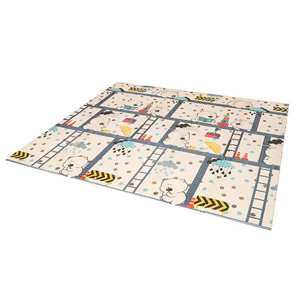 Infantile brillant enfants tapis de jeu pliant Puzzle tapis de jeu tapis de jeu pour les nourrissons 200*150*1 cm mousse ramper tapis Pack et jouer matelas 1 p - 2