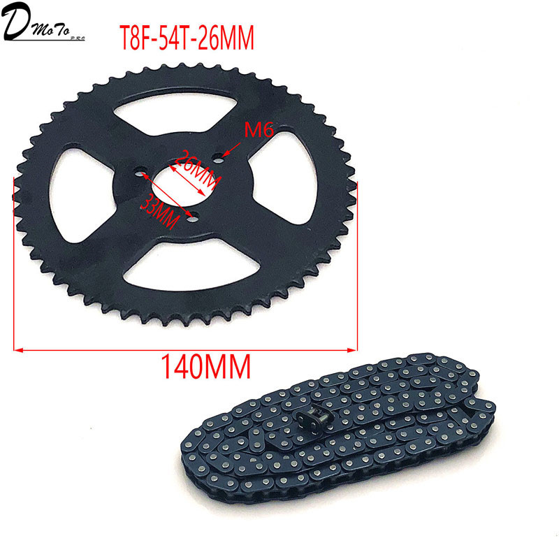 Image 5 - 47cc 49cc T8F chain 136 Links and 38 54 74 teeth Chain plate 