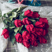 Klonca Luxury Romance PU 1pc Moisturizing Artificial Rose Flower Valentines Day Gift Home Decoration Party