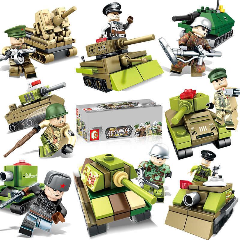 Pequenas partículas guerra militar brinquedos tanque/exército/soldado/blindado tropas crianças figura educação brinquedos diy mini bloco de construção tijolo