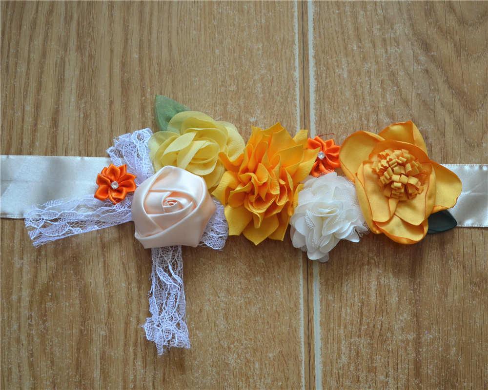 New European Version Of Stitching Flower Belt Pure Handmade Bride Wedding Dress Photography Waist Seal