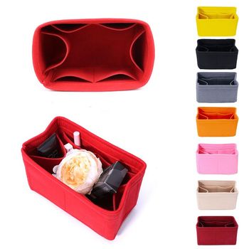 New Multifunction Women Felt Insert Bag Makeup Cosmetic Bags Travel Inner Purse Portable Handbag Storage Organizer Tote S/M/L - discount item  29% OFF Special Purpose Bags