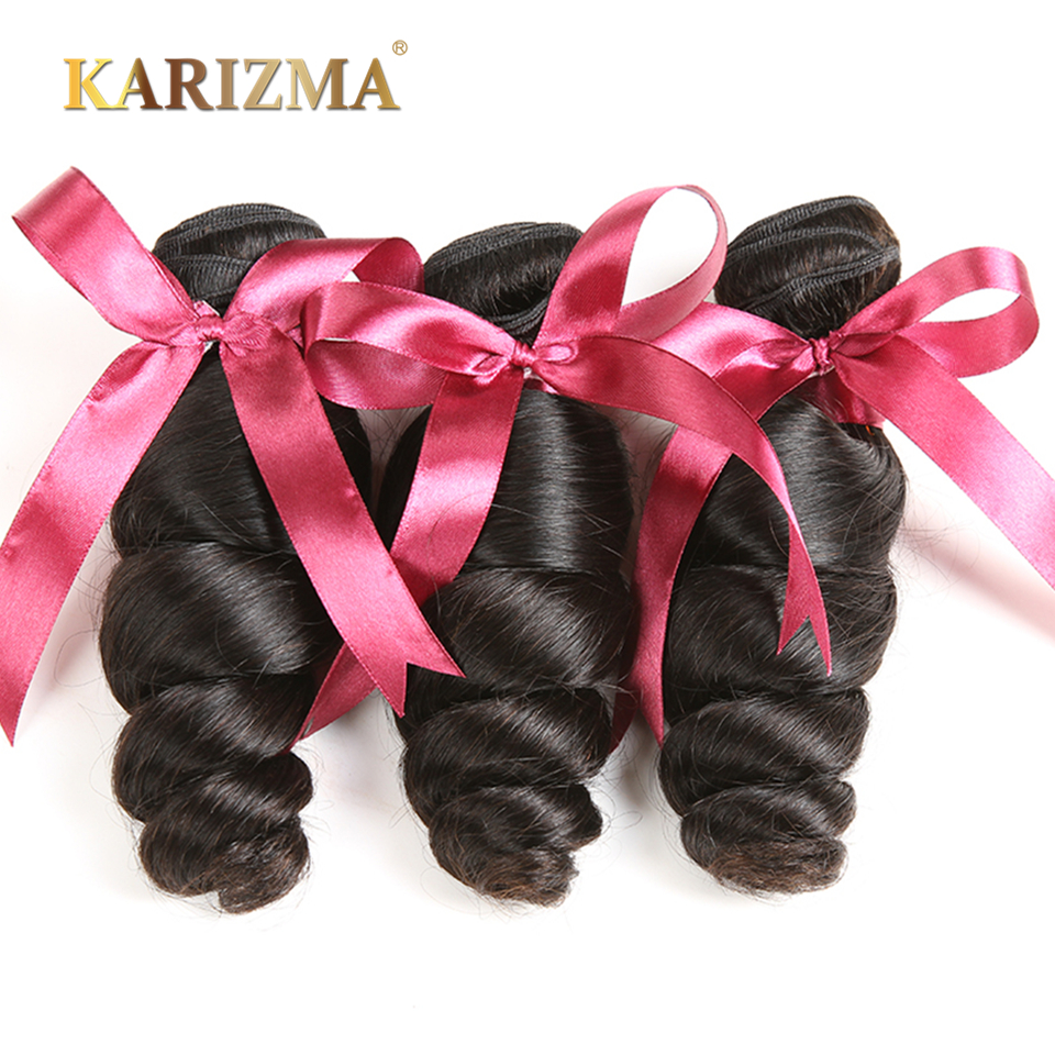 Karizma Brazilian Loose Wave 3 Bundles Deal 100 Human Hair Extensions Non Remy Hair Weave Can
