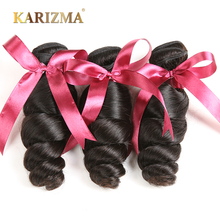 Karizma Brazilian Loose Wave 3 Bundles Deal 100% Extensiones de cabello humano Non Remy Hair Teja se puede teñir de color negro natural