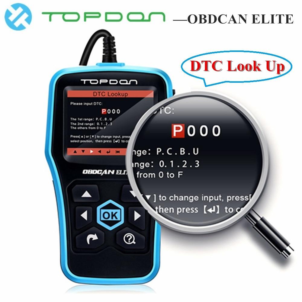 все цены на TOPDON Ultrascan OBDCAN ELITE Diagnostic Tool EOBD ABS SRS Code Reader Scan Tool OBD2 Scanner Car Full OBDII OBD 2 II Function
