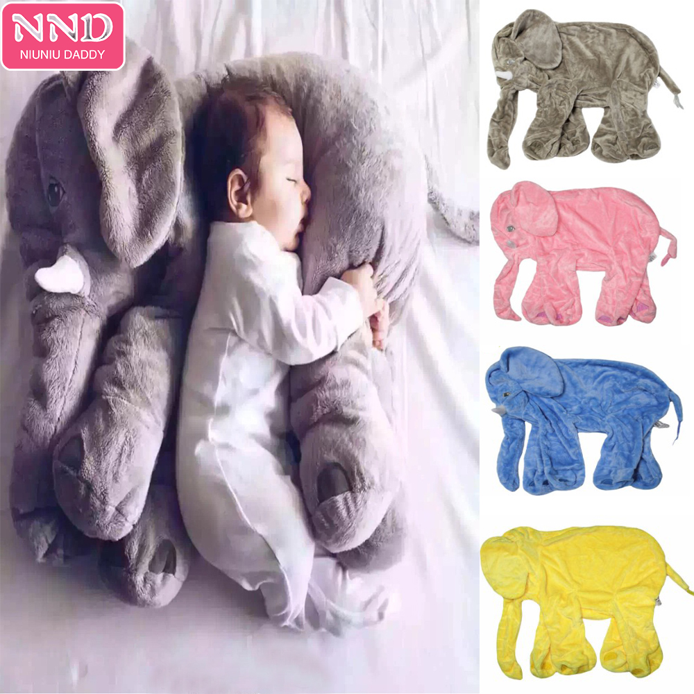 Niuniu Daddy Plush Elephant Skin Toy Plush Animal Soft Elephant Baby Sleeping Pillow Kids Toys 60cm With Zipper