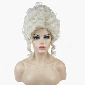 Image 1 - Strong beauty perruque pour Cosplay, perruque de princesse Marie Antoinette, cheveux mi bouclés