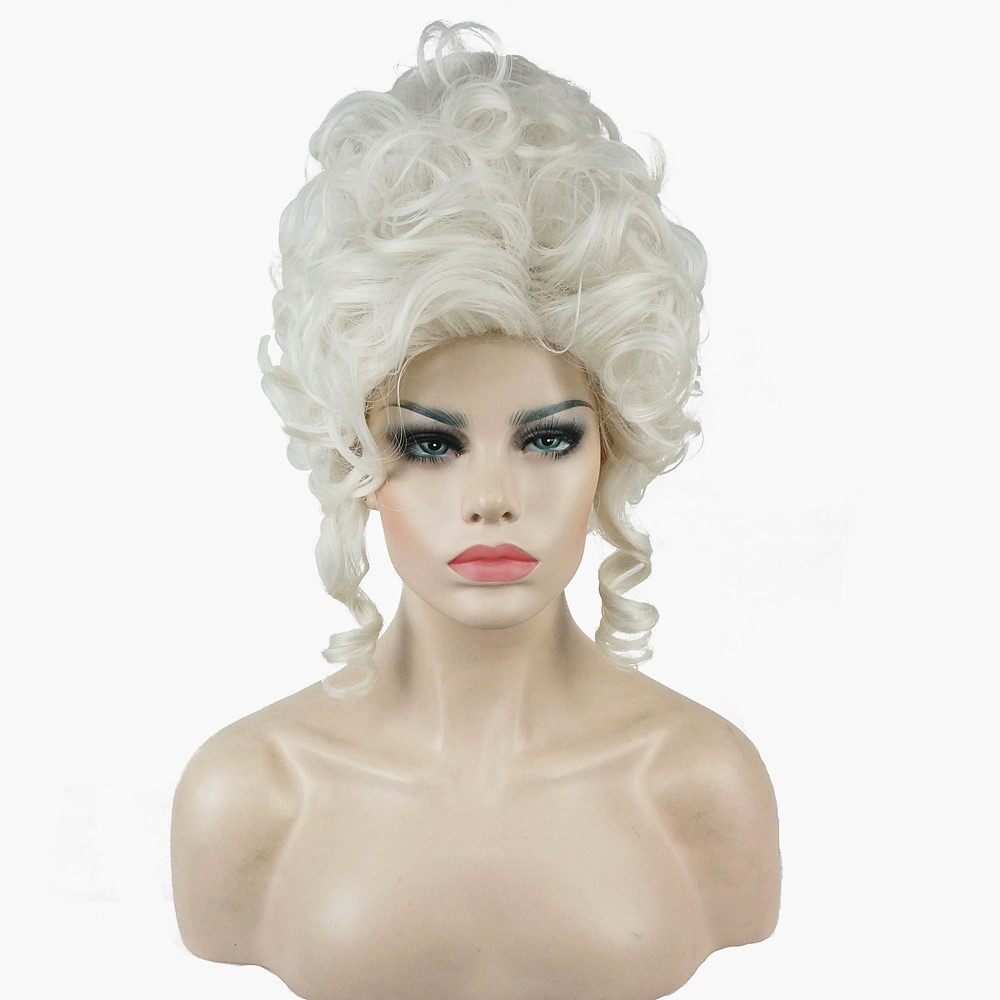 StrongBeauty Marie Antoinette Princess Medium Curly Hair Cosplay Wigs
