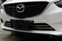 New Car Styling Sticker Chromed Front Center Lower Grill Grille Trim Cover For Mazda 6 M6 Atenza 2014-2016