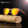 Новая Мода ДЮ Дерево Солнцезащитные Очки Поляризованные Ручной Деревянный Солнцезащитные Очки Бамбуковые солнцезащитные Очки Бренд Дизайнер Мужчины Женщины
