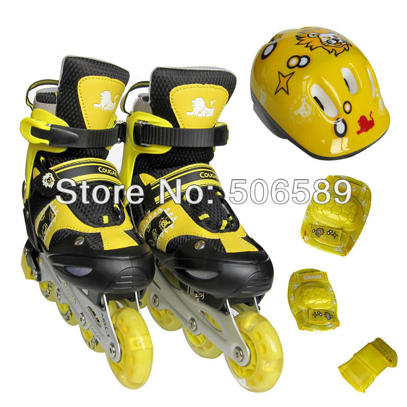 free shipping childrens roller skates with helmet protectors for children and adults flashing wheelfree shipping childrens roller skates with helmet protectors for children and adults flashing wheel