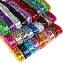 NBHB 5 ярдов 5-ряда квадратных DIY блестящие Бисер блестки ленты кружевной ткани отделка для Танцы сценический костюм одежды шляпа украшения