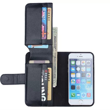 Retro PU leather cover case for iPhone 6 Plus 5 5inch Wallet stand design flip phone
